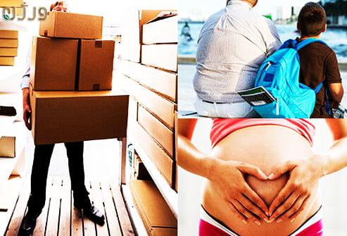 بارداری حمل اثاث سنگین و چاقی  بیماری بواسیر