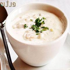 سوپ شیر با خامه